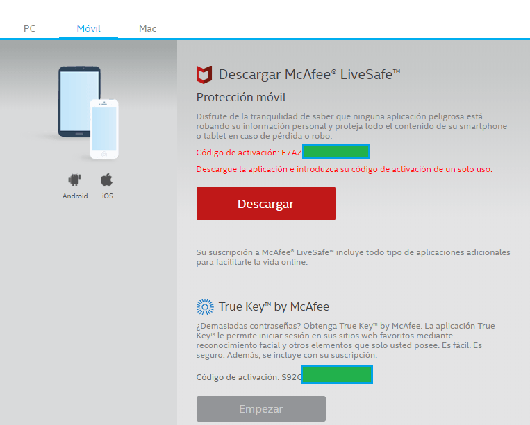 McAfee LiveSafe Android