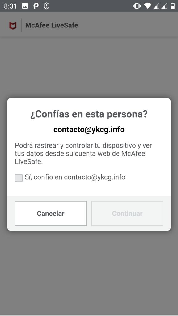 McAfee LiveSafe key