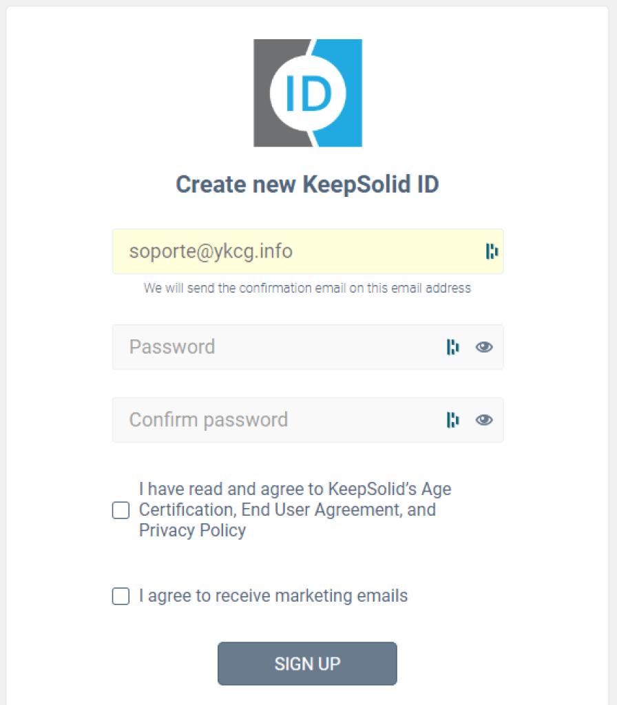 KeepSolid VPN - cuenta