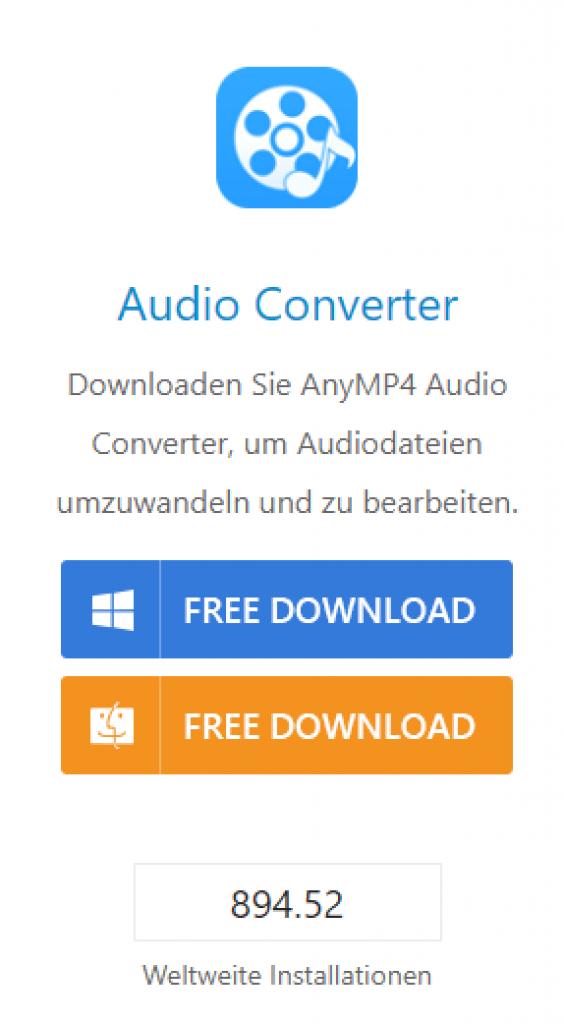 AnyMP4 Audio Converter - Download