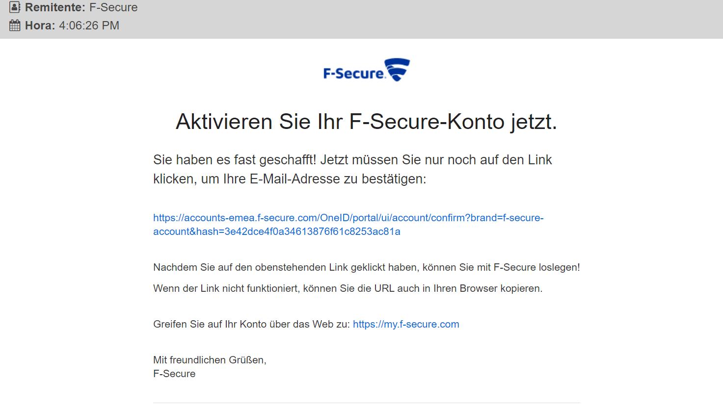 F-Secure SAFE  paso3