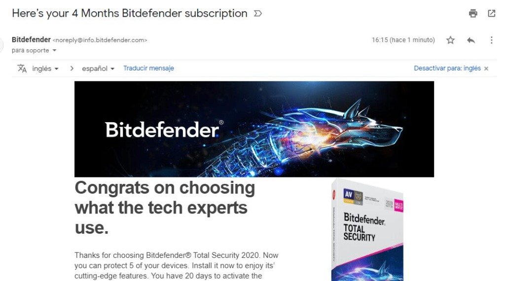 Bitdefender Total Security 2021 Activacion Part1