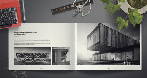 Crea tu CV PortFolio Creativo de Arquitecto Interiorista